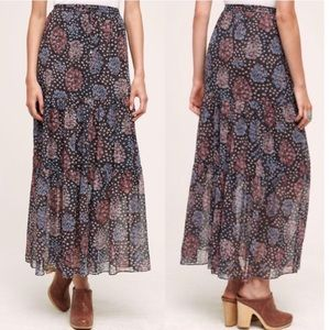 Anthropologie Maeve moon lake maxi skirt
